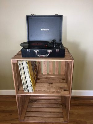 Cherry Stained Turntable Stand