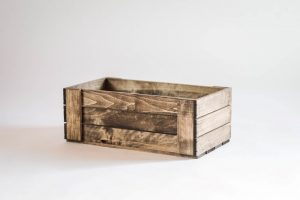 DVD Holder Wood Crate