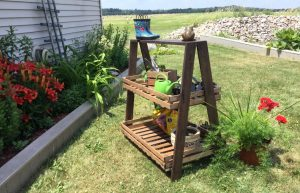 2-Tier A-Frame Plant Stand