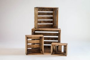Set of 4 Nesting Box Wood Crates