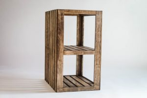 End Table/Nightstand Wood Crate