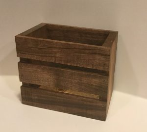 Wood Crate Utensil Holder