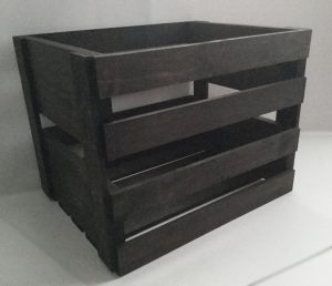 Vintage Stained Vinyl Record Holder Wood Crate