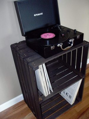 Vintage Stained Turntable Stand