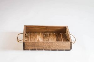 Antique Style Wooden Serving Tray