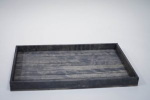 Large Antique Gray Serving Tray
