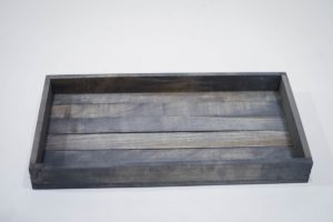 Small Antique Gray Serving Tray
